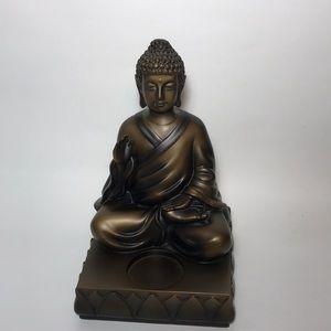 PartyLite Bronze Buddha Tea Light Statue